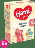 6x HAMI 12+ (600 g) - dojčenské mlieko