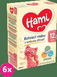 6x HAMI 12+ s príchuťou vanilky (600 g) – dojčenské mlieko
