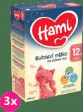 3x HAMI 12+ Na dobrú noc (600 g) - dojčenské mlieko