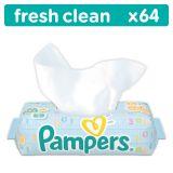 PAMPERS Fresh Clean z wieczkiem 64 szt. - chusteczki nawilżane