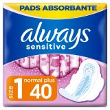 ALWAYS Sensitive Ultra Normal Plus Vložky hygienické 40 ks