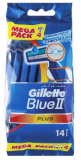 GILLETTE Blue II Plus Sensitive 10+4ks - pohotová holítka
