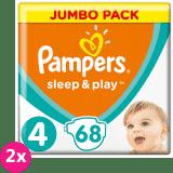 2x PAMPERS Sleep & Play 4 MAXI 68 ks (9-14 kg) JUMBO PACK - jednorázové plienky