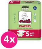 MUUMI Baby Maxi+ 176 szt. (10-16 kg) ZAPAS NA MIESIĄC – pieluchy jednorazowe