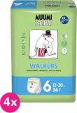 MUUMI Baby Junior 144 szt. (12-24 kg) ZAPAS NA MIESIĄC – pieluchy jednorazowe
