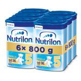6x NUTRILON 5 ProNutra s příchutí vanilky (800g) - kojenecké mléko