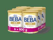 6x BEBA A.R. 2 (800 g) - dojčenské mlieko