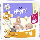 BELLA HAPPY Mini 2 (3-6kg) Big Pack 78ks – jednorázové plenky