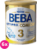 6x NESTLÉ BEBA OPTIPRO Comfort 3 (800 g) – kojenecké mléko