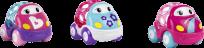 OBALL Autíčka Go Grippers™ 3ks, růžová, 18m+