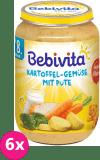 6x BEBIVITA Brambory-zelenina s krůtím masem (220 g) - masozeleninový příkrm