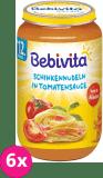 6x BEBIVITA Rajčatová omáčka s těstovinami a šunkou (250 g) - masozeleninový příkrm
