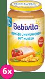 6x BEBIVITA Zelenina a kuracie mäso s rezancami (250 g) - mäsovo-zeleninový príkrm