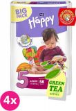 4x BELLA HAPPY Junior 5 (12-25 kg) Big Pack 58 szt. - pieluszki jednorazowe