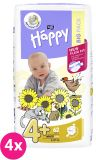 4x BELLA HAPPY Maxi Plus Big Pack 4 (9-20 kg) 62 ks - jednorazové plienky