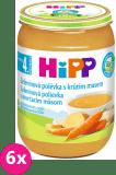 6x HIPP BIO Zeleninová polievka s morčacím mäsom 190 g