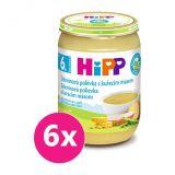 6x HiPP BIO zeleninová polévka s kuřecím masem (190 g) - maso-zeleninový příkrm