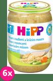 6x HIPP BIO Vývar s rezancami a morčacím mäsom 190 g