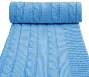 T-TOMI Pletená deka, modrá