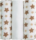 T-TOMI Bambusové BIO pleny, sada 3 ks, béžové hvězdičky