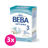 3x BEBA OPTIPRO 3 (600 g) - dojčenské mlieko