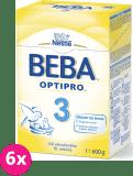 6x NESTLÉ BEBA 3 OPTIPRO (600 g) - kojenecké mléko