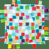 BRIGHT STARTS Kocyk przytulanka Little Taggies kwadraty 30 x 30 cm (0 m+)