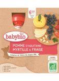 BABYBIO Kapsička jablko borůvky jahody - ovocný příkrm (4x 90 g)