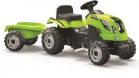 SMOBY Šliapací traktor s vozíkom Farmer XL, zelený