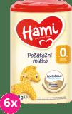 6x HAMI 0+ (800 g) - dojčenské mlieko