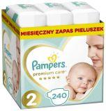 PAMPERS Premium Care 2 MINI 240 ks (4-8 kg) MĚSÍČNÍ ZÁSOBA – jednorázové pleny