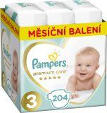 PAMPERS Premium Care 3 MIDI 204 szt. (6-10 kg), ZAPAS NA MIESIĄC - pieluchy jednorazowe
