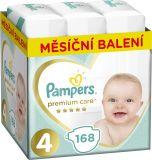 PAMPERS Premium Care 4 MAXI 168 ks (9-14 kg) MESAČNÁ ZÁSOBA – jednorazové plienky