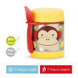 SKIP HOP Zoo Termoska na jedlo s lyžičko/vidličkou Opička 325 ml, 12 m+