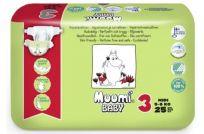 MUUMI Baby MIDI 3 (5-8 kg) 25 szt. – pieluszki jednorazowe