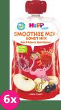 6x HIPP HiPPiS BIO Smoothie Jablko-Banán-Červené ovoce 120 ml – ovocný příkrm