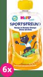 6x HIPP HiPPiS BIO Sport Hruška-Pomeranč-Mango-Banán-Rýže 120 g – ovocný příkrm