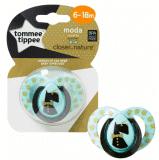 TOMMEE TIPPEE Šidítko C2N silikon Moda 6-18m, modré