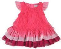 BOBOLI Volánkové šaty, vel. 86 cm - tmavě růžová, holka
