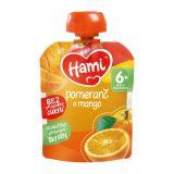 HAMI Kapsička pomeranč a mango 90 g - ovocný příkrm