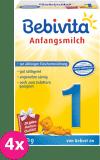 4x BEBIVITA 1 (500 g) - dojčenské mlieko
