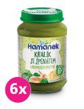 6x HAMÁNEK Králik se špenátem a bramborem (190 g)