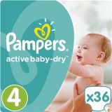PAMPERS Active Baby Dry 4 MAXI 36 szt. (8-14 kg) - pieluchy jednorazowe