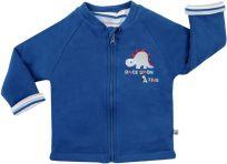 JACKY Oboustranný zateplený kabátek 2 v 1 DINO, vel. 56- modrá, Kluci