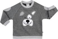JACKY Mikina DOGS, vel. 80 - tmavě šedá, Kluci