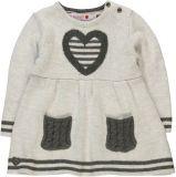 BOBOLI Pletené šaty srdce, vel. 74 - šedá, holka