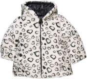 BOBOLI Oboustranná zimní bunda - kožíšek, vel. 74 - šedá, holka