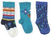 BOBOLI Dívčí ponožky set 3 ks, vel. 16/18 - modrá, holka