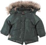 BOBOLI Zimní bunda s kožíškem, vel. 86 - khaki, kluk