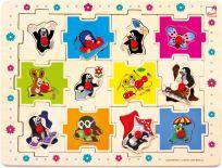 BINO Puzzle Krtek tvary, 24 dílků